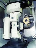 Grinding setup on a horizontal machining center