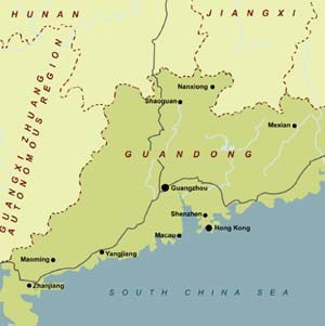 Guandong Province in southeastern China