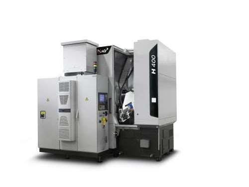 MAG's H 400 CNC hobbing machine