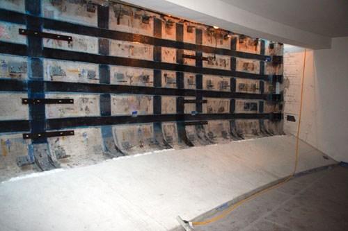 CFRP wall pattern