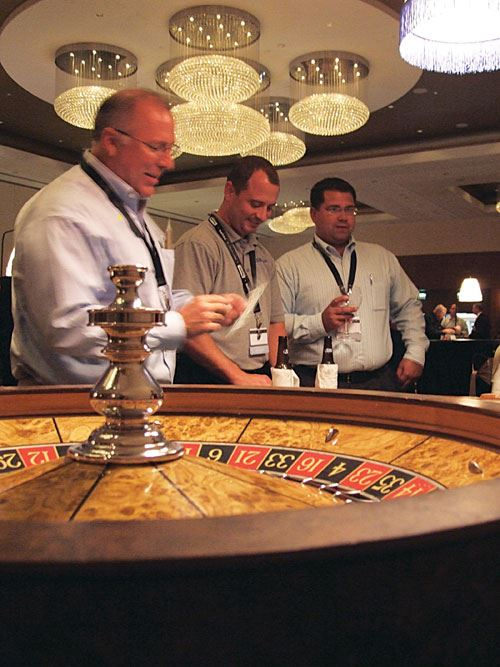 Networking Party roulette