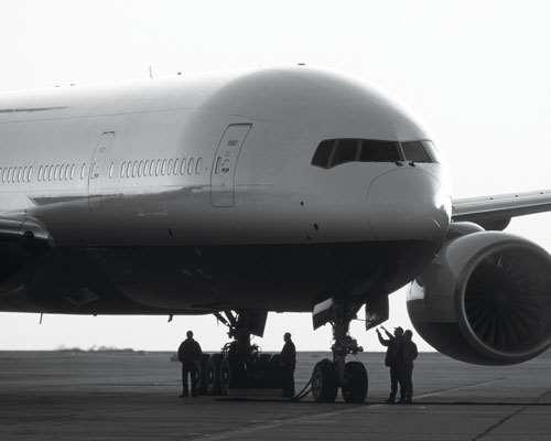 Plane on ground