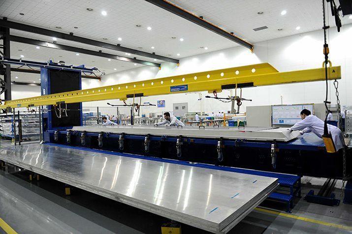 machine in Hafei Airbus Composite Manufacturing Center