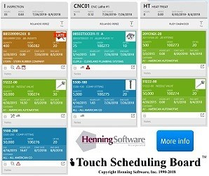 Henning Software Touch Scheduling Board