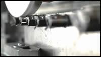 High speed creep-feed grinding of hook scissor blades