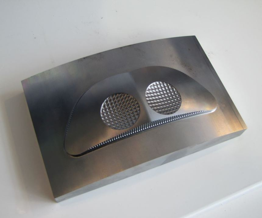 head lamp mold produced on Hyundai Wia i-Cut400M