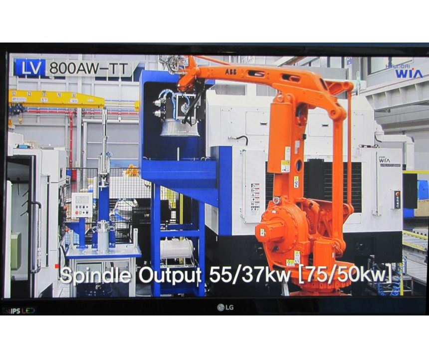 A video presentation demonstrated the suitability of this machine for automation.