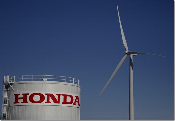 Wind turbines at Honda Transmission Mfg. of America