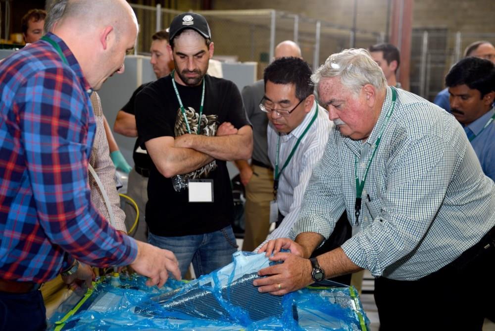 demo workshop at Road 2 Composite