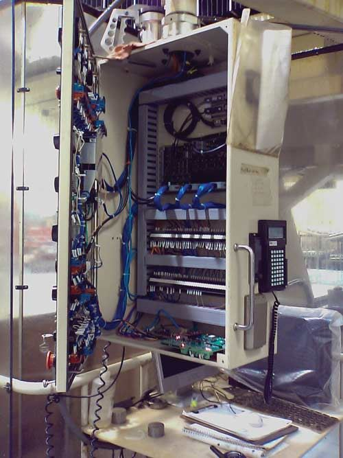 Inside the CNC control panel