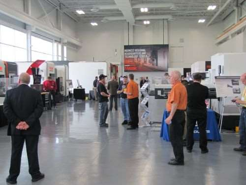 """Discover More With Mazak"""" Midwest event showroom"""