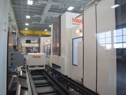 Palletech System with rail-mounted pallet transfer system
