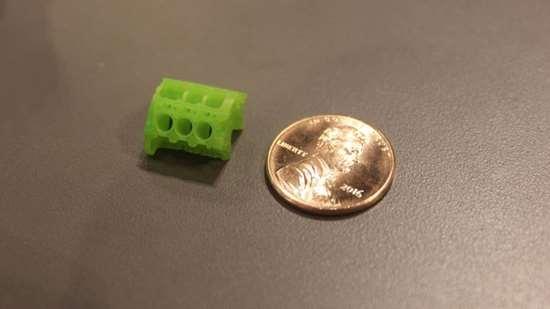 Proto Labs MicroFine Green part