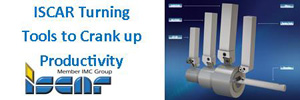 Iscar Turning Tools will Crank UP your Productivity.