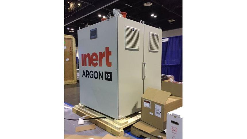 Inert Argon-10 gas management system