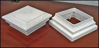 Injection molded PVC trim pieces