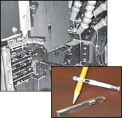 Inset shows finished components