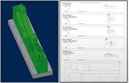 Integrated CAD and CAM package