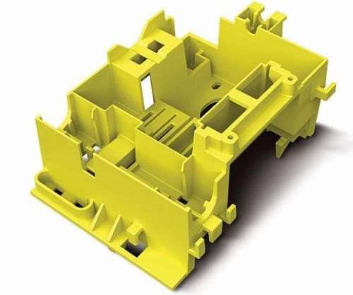 A plastic part like this could be milled or 3D printed. How do you decide between processes? Image courtesy of Proto Labs.