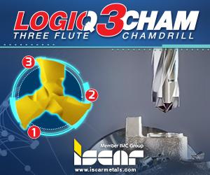 Iscar Logiq 3 Cham Three Flute Chamdrill