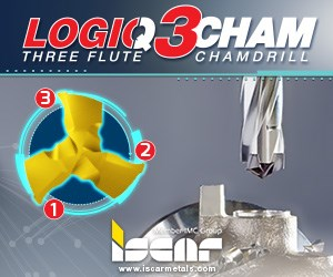Iscar LOGIQ3Cham Three Flute Chamdrill