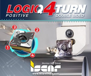 Iscar LogiQ4Turn Positive Double Sided