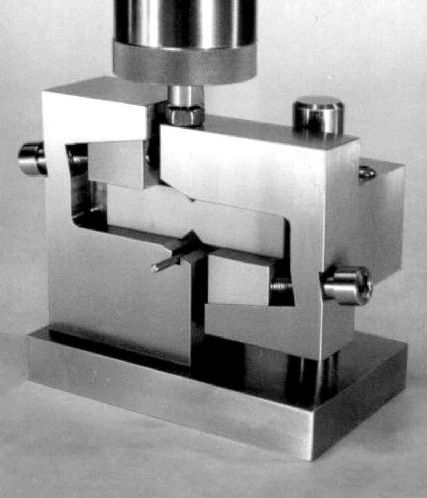 Fig 3 - Iosipescu shear test fixture