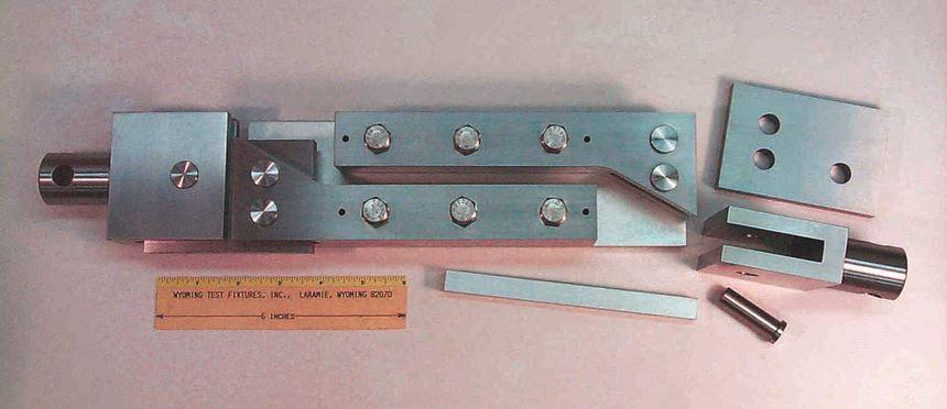 Fig 4 - Two-rail shear test fixture