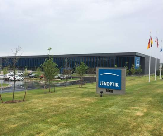 outside of Jenoptik Automotive's new 100,000-square-foot facility in Michigan