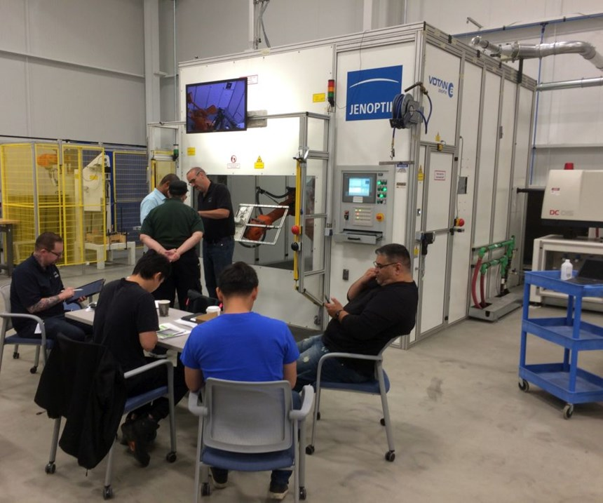 training on automated laser processing equipment