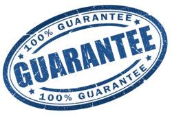 100% guarantee stamp