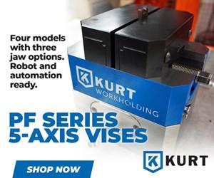 Kurt PF Series 5-Axis Vises