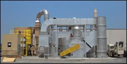Lasco uses a two-stage VOC-abatement system