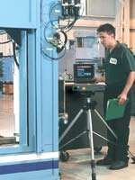 Laser measurement of production machine tools