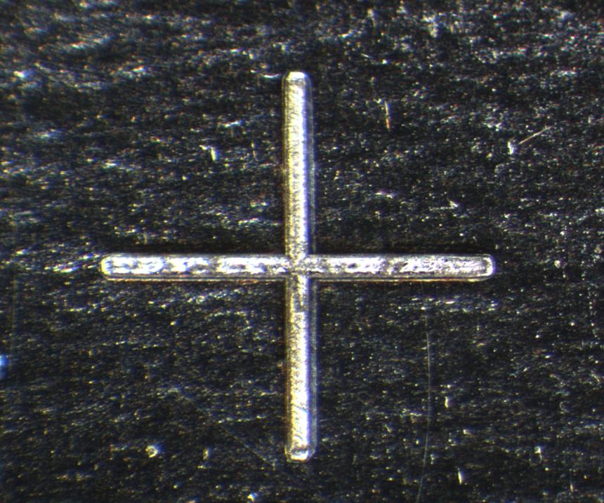 Channel cut in metal foil