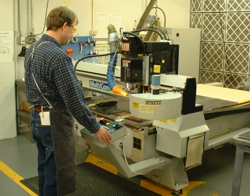 Jeff Foster operates a router