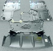 Lightweight GMT is used in a BMW underbody shield