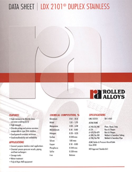 Rolled Alloy Stainless Steel brochure