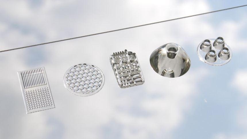 3D printed optics components