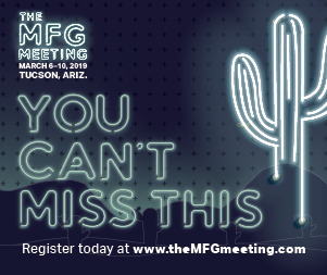 The MFG Meeting, March 6-10, 2019