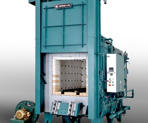 Grieve No. 1042 2,000°F gas-fired, heavy-duty furnace