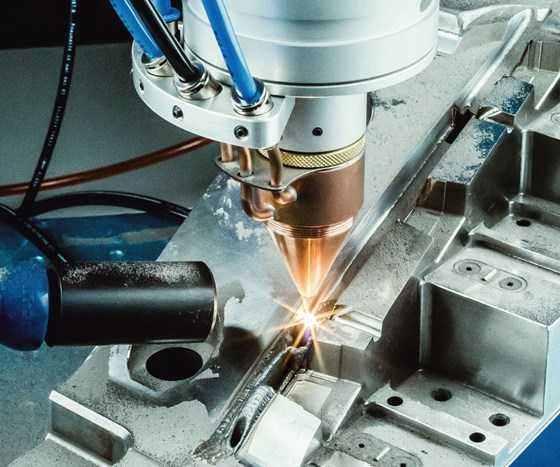 OR Laser automated powder nozzle for laser welding systems