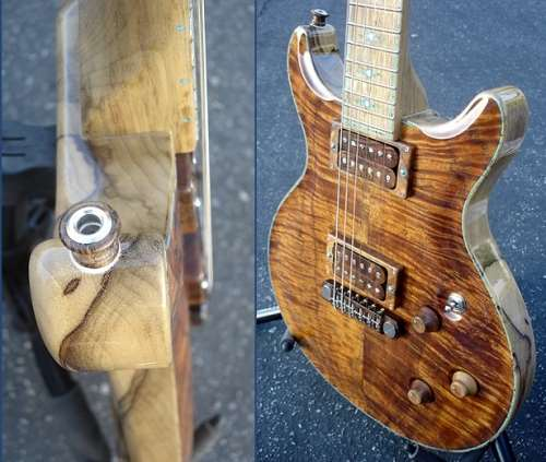 Thorn guitar with inlaid body