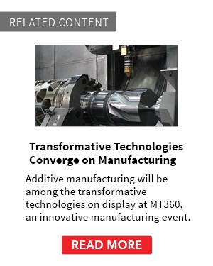 Transformative Technologies Converge on Manufacturing