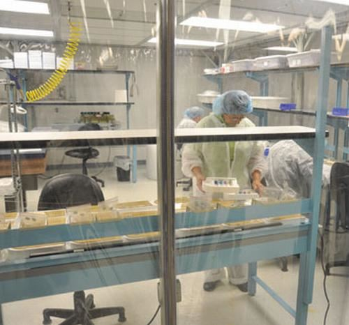 Clean room assembly of dental guidance kits