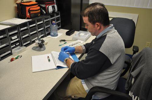 Inspection of titanium dental components