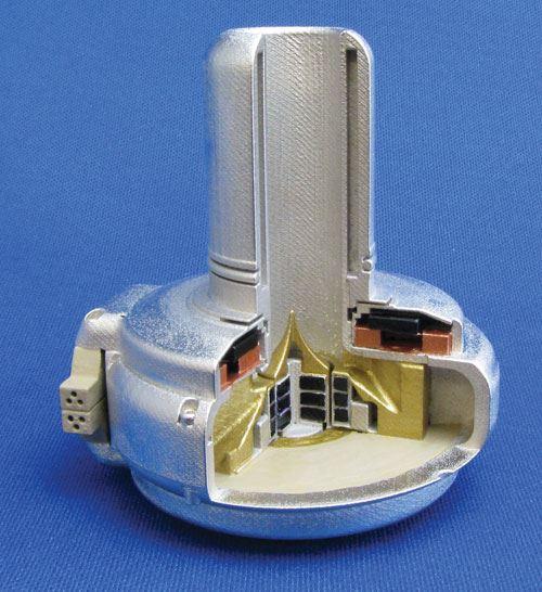 Cutaway of heart pump