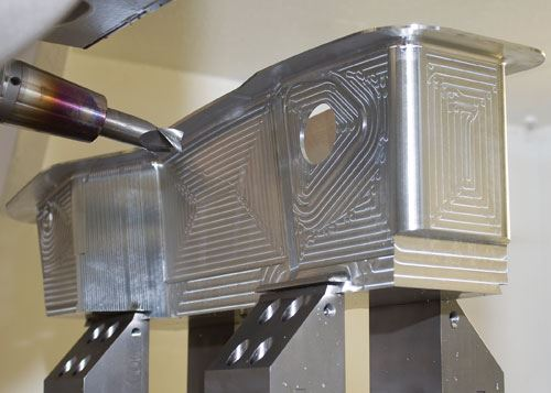 Undercut with five-axis machining