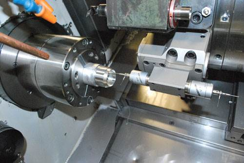Probing on a turn-mill machine