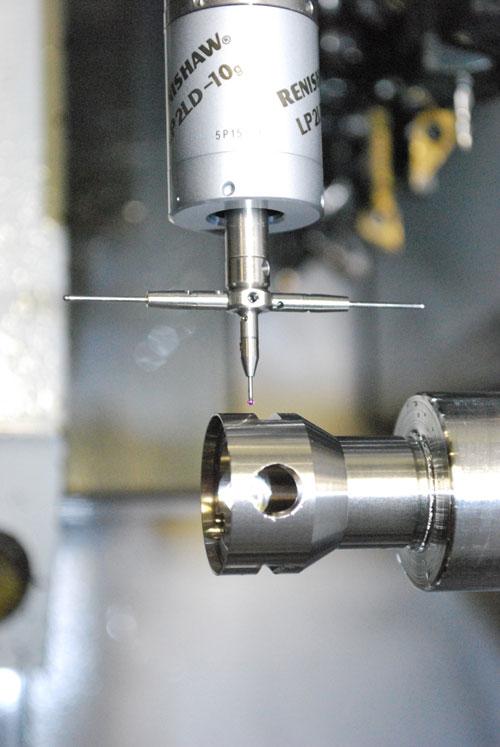 Stylus on Swiss-type probe
